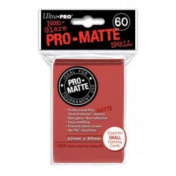 Ultra Pro Hüllen Rot Matt (60) Japan Size