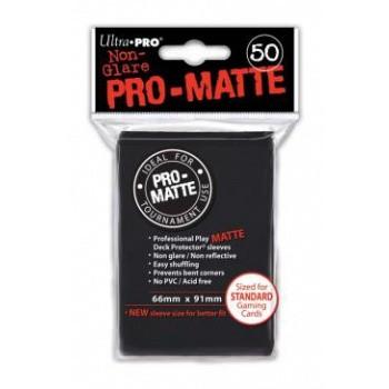 Ultra Pro Kartenhüllen - Standardgröße reflexionsfrei (50) - Schwarz