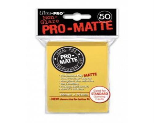 Ultra Pro Kartenhüllen - Standardgröße reflexionsfrei (50) - Gelb