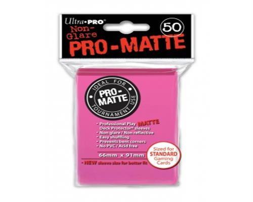Ultra Pro Kartenhüllen - Standardgröße reflexionsfrei (50) - Bight Pink