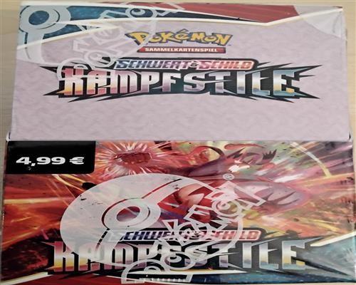 Pokemon Kampfstile 18er Booster Display