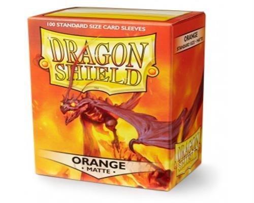 Dragon Shield Standard Sleeves - Matte Orange(100)