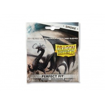 Dragon Shield Standard Perfect Fit Sleeves Sideloading Sleeves - Clear/Smoke (100 Sleeves)