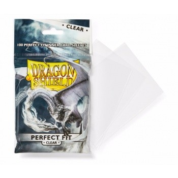Dragon Shield Standard Perfect Fit Sleeves - Clear (100 Sleeves)