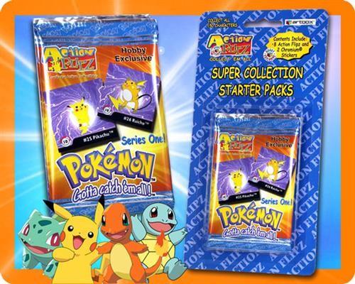 Pokemon Action Flipz Starter Pacls ( 2 Packs )