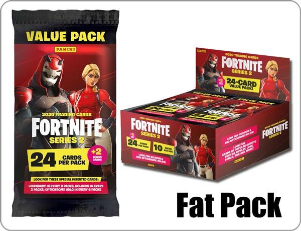 Panini Fortnite Serie 2 Fat Packs Display