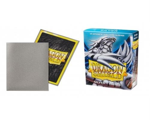 Small Sleeves - Japanese Matte Silver (60 Sleeves)