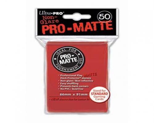 Ultra Pro Kartenhüllen - Standardgröße reflexionsfrei (50) - Rot