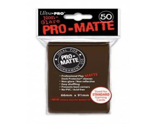 Ultra Pro Kartenhüllen - Standardgröße reflexionsfrei (50) - Braun