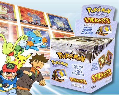 Pokemon Sticker Art-Box Serie 1 Display ( 30 Tüten je 10 Sticker = 300 Sticker)