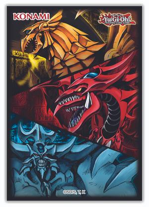 Yugioh! - Slifer, Obelisk, & Ra Card Sleeves (50 Sleeves)