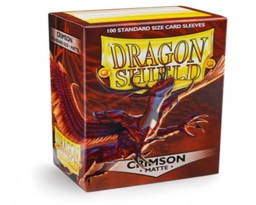 Dragon Shield Standard Sleeves - Matte Crimson(100)