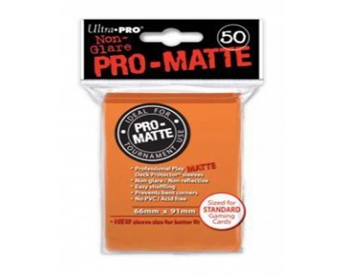 Ultra Pro Kartenhüllen - Standardgröße reflexionsfrei (50) - Orange